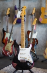 Fender Custom Shop Stratocaster '57 limited Edition, Black over Pink Paisley, Poblano handwound Pickups, heavy relic, SOLD!