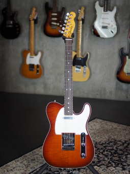 Fender Custom Shop Flame Maple Top American Custom Telecaster, violin burst, SOLD!