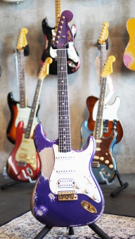 Fender Custom Shop Dale Wilson Masterbuilt, 1969 Stratocaster, purple, heavy relic, SOLD!