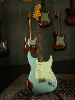 Fender Custom Shop Stratocaster '63, Ice Blue over Sunburst, heavy relic, SOLD!