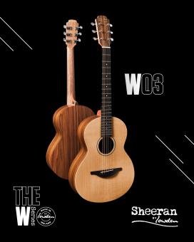 Sheeran by Lowden W03 Santos Rosewood - Cedar Bevel