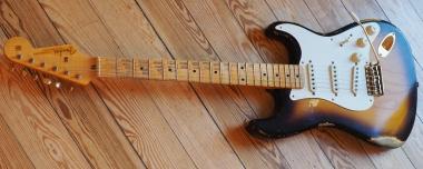 Fender Custom Shop Stratocaster '55 limited Edition, sunburst, heavy relic, SOLD!