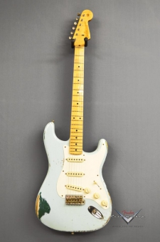 Fender Custom Shop Stratocaster '57 limited Edition, Sonic Blue over Sherwood Metalic, John Cruz '56 Pickups, heavy relic, SOLD!
