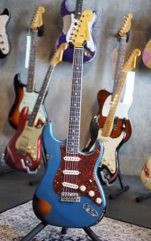 Fender Custom Shop Stratocaster, Limited Custombuilt NAMM 2016, 60s Strat,  Lake Placid Blue over Sunburst, heavy relic