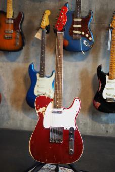 Fender Custom Shop Telecaster, Paul Waller Masterbuilt, '63 Custom Telecaster, Candy Apple Red, heavy relic