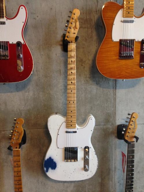 Fender Custom Shop Greg Fessler Masterbuilt, 1963 Custom Telecaster, Arctic White over Lake Placid Blue, heavy relic, SOLD!