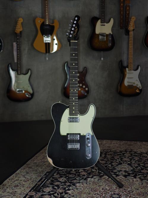 Fender Custom Shop Telecaster Custom Deluxe, black top, relic, T.V. Jones, SOLD!