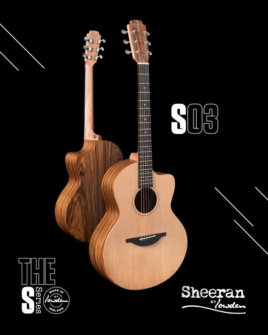 Sheeran by Lowden S03 Santos Rosewood - Cedar Cutaway
