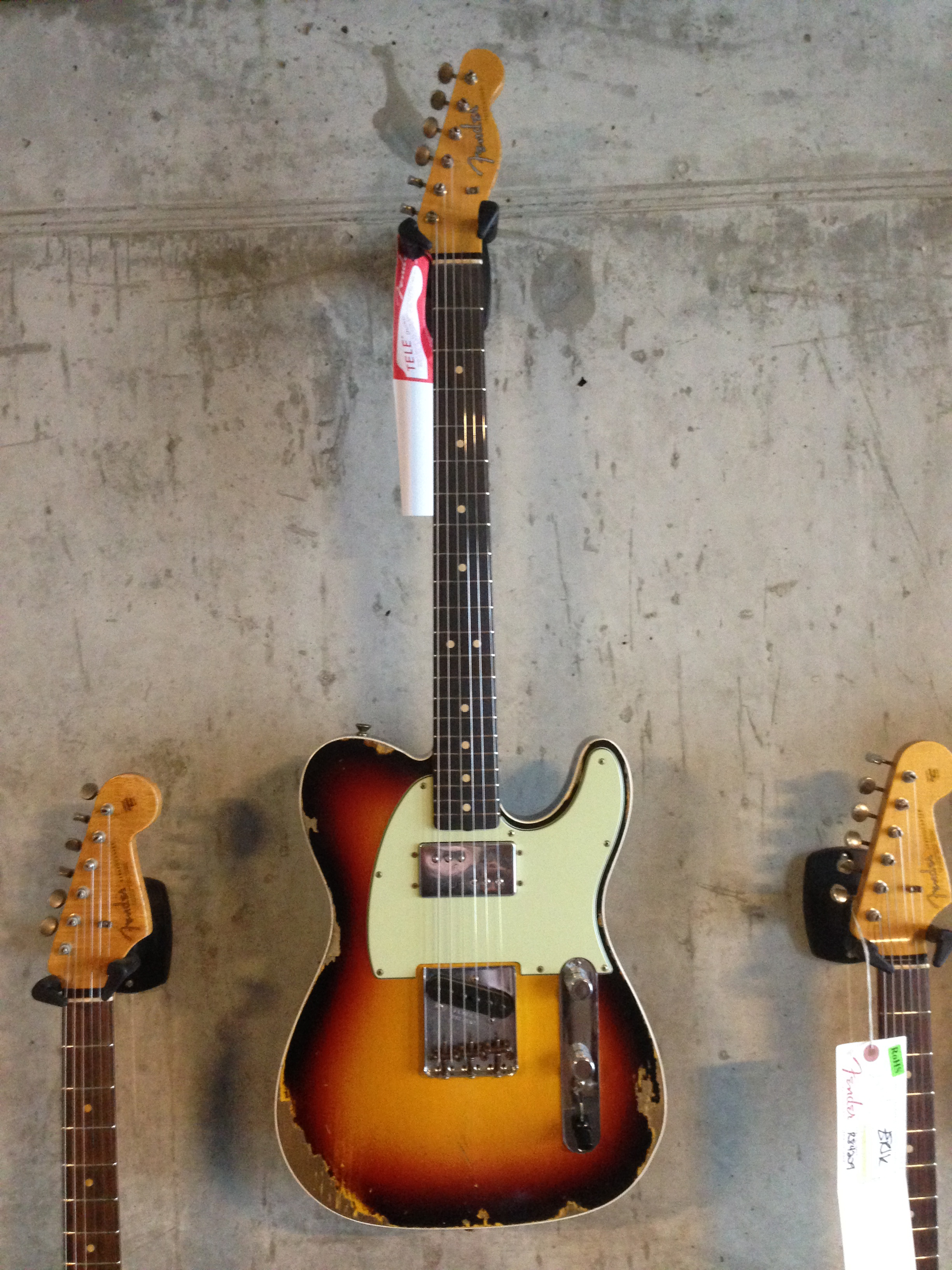 Fender Custom Shop Telecaster 63 Heavy Relic Wide Range HB Reversed